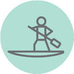 Icone stand up paddle